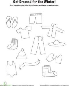 clothes coloring pages preschool clothes worksheet for kids crafts and worksheets for