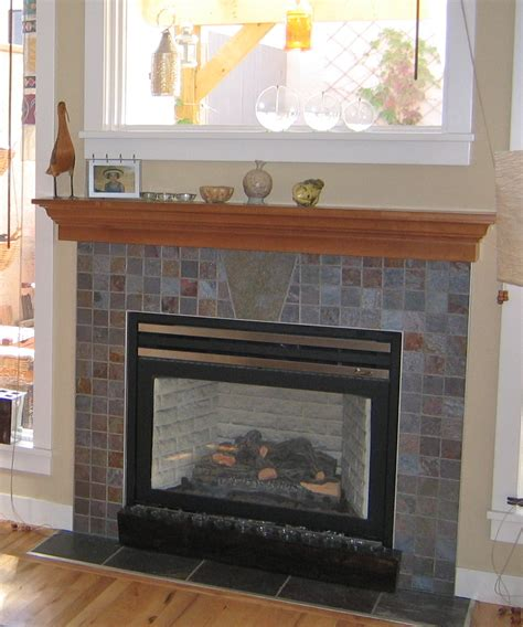 tiled fireplace surround slate tile fireplace surround fireplace design ideas