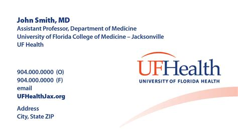 Uf Official Letterhead Corporate Id Business Cards Letterhead Etc 187 Creative Services 187 Uf Academic Health Center
