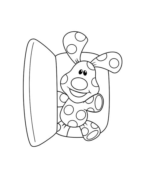 coloring pages to printable free printable blues clues coloring pages for kids