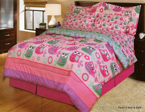 girls owl bedding wise owls full 9pc girls owl pink bedding comforter sheets