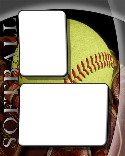 softball card template photography photo card template retro sports baseball