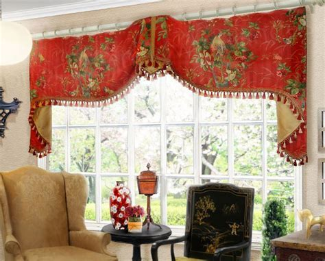 Extra Wide Flat Swag Valance on Rings #valances   PWV