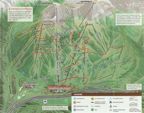 copper trail map copper mountain resort skiing snowboarding colorado