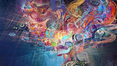 wallpaper abstrak resolusi tinggi wallpaper warna warni abstrak tengkorak seni warna