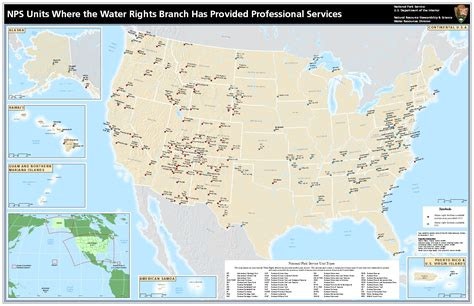 map us national park system image gallery national park service map