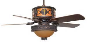 Western Ceiling Fans With Lights Cc Kvshr Brz Lk515 Cross Cross Western Ceiling Fan With Light Kit