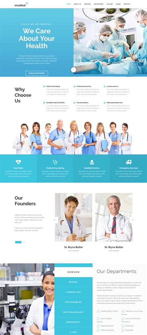 70 Best Health And Medical Website Templates Free Premium Freshdesignweb Healthcare Website Templates