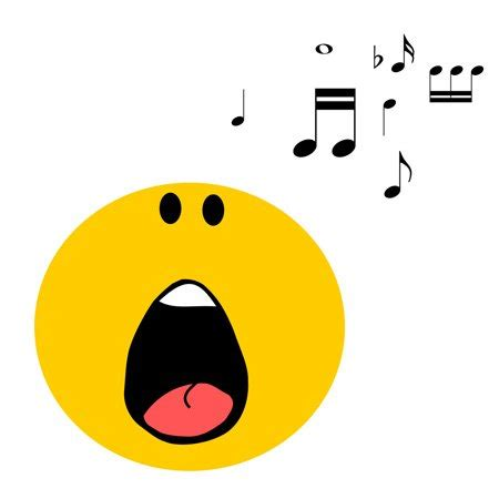 singing emoji image gallery singing face