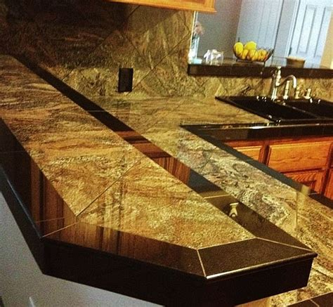 Granite Tile Kitchen Countertops Smooth Granite Tile Countertop Tile Work Ideas