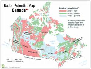 radon potential map canada radon gas home tests urged by calgary cancer experts