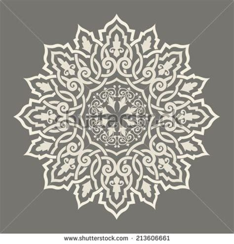 round islamic pattern vector round pattern mandala abstract design of persian islamic