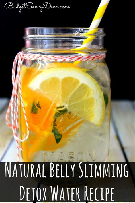 Great American Detox Diet Recipes by Belly Slimming Detox Water Recipe Budget Savvy