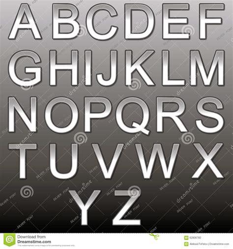 design elements fonts design elements silver 3d font stock vector image