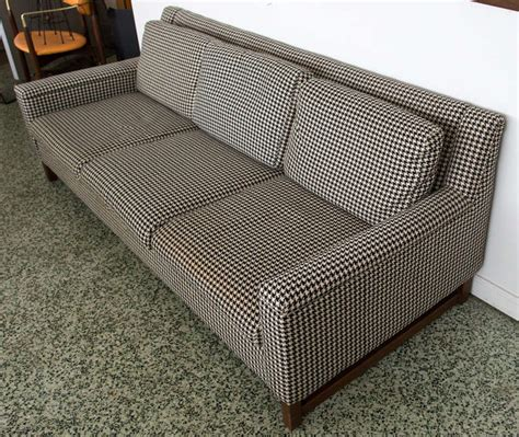 Midcentury Houndstooth Sofa At 1stdibs