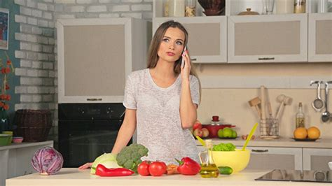 Talking Kitchen by Talking On The Phone In The Kitchen By Yurgentum