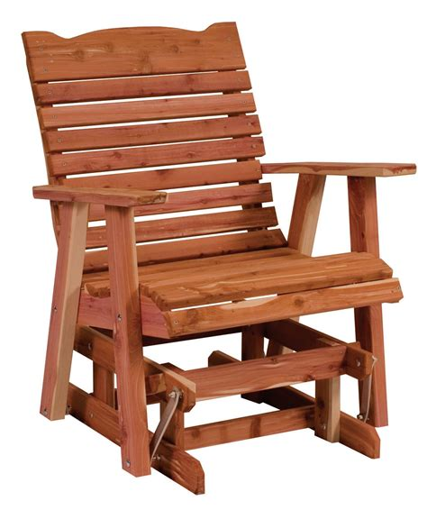 Patio Glider Chair Plans by Straightback Glider Amish Direct Furniture