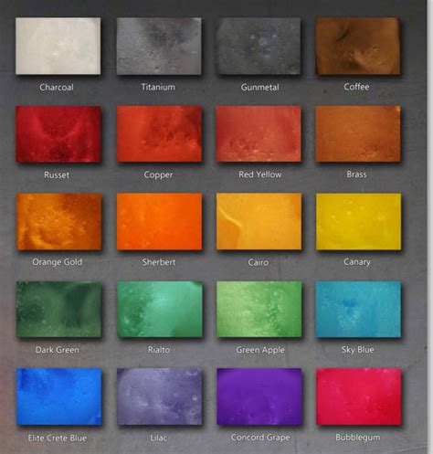 Stained Polished Concrete Color Chart   We Know How To Do It