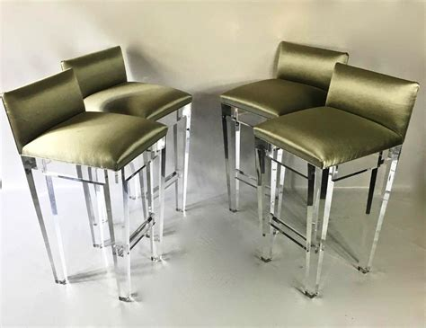 Lucite Counter Stools With Back by Look Spectacular Lucite Bar Stools