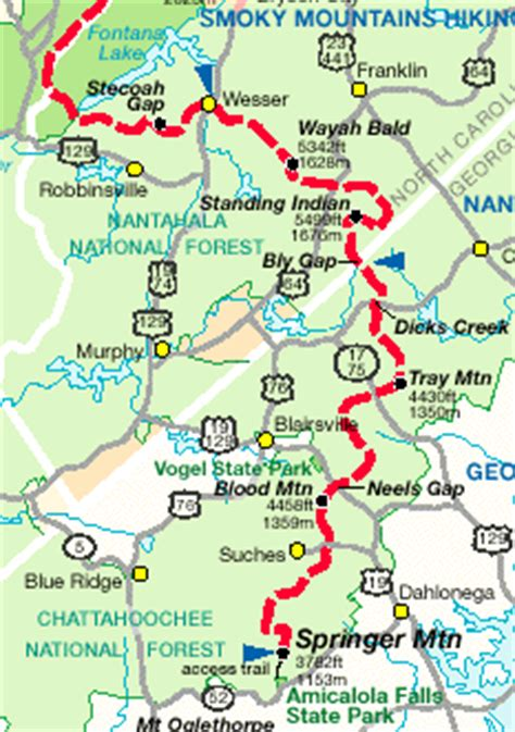 Appalachian Trail Section Maps by Appalachian Trail Map Clubmotorseattle