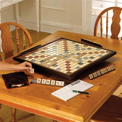 deluxe scrabble with rotating board scrabble deluxe with rotating board at signals hn2372
