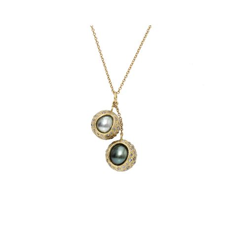todd reed tahitian pearl necklace in white lyst