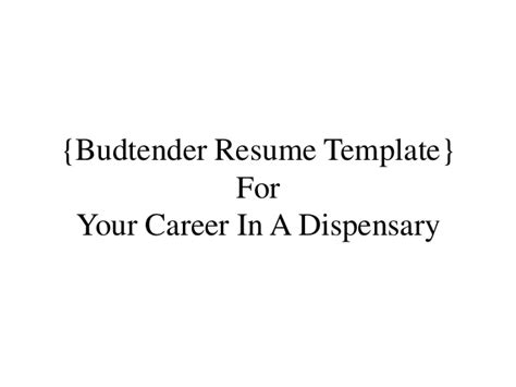 Resume For Medical Assistant Job by Budtender Jobs Resume