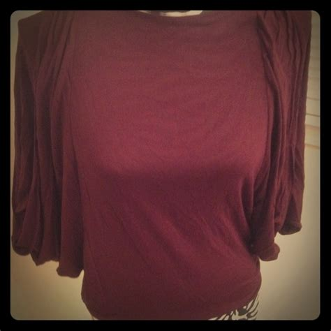 capote wine colored top from d s closet on poshmark
