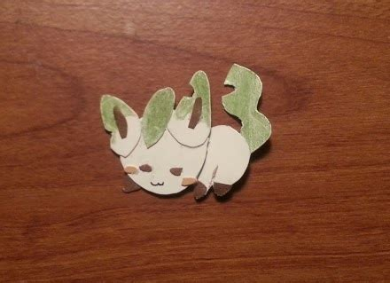 Leafeon Papercraft - leafeon papercraft weasyl