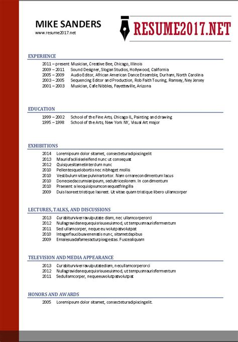 format for resume 2017 free resume templates 2017
