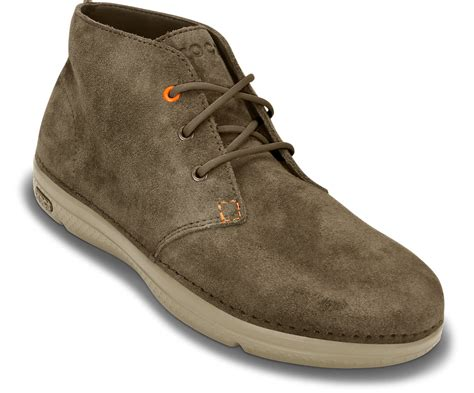 mens croc boots crocs mens thompson desert boot