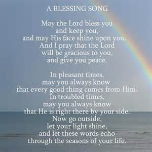 An original song by the toad lilies based on the aaronic blessing in