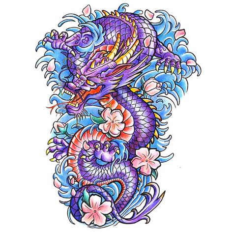 colorful dragon tattoo designs colorful japanese design