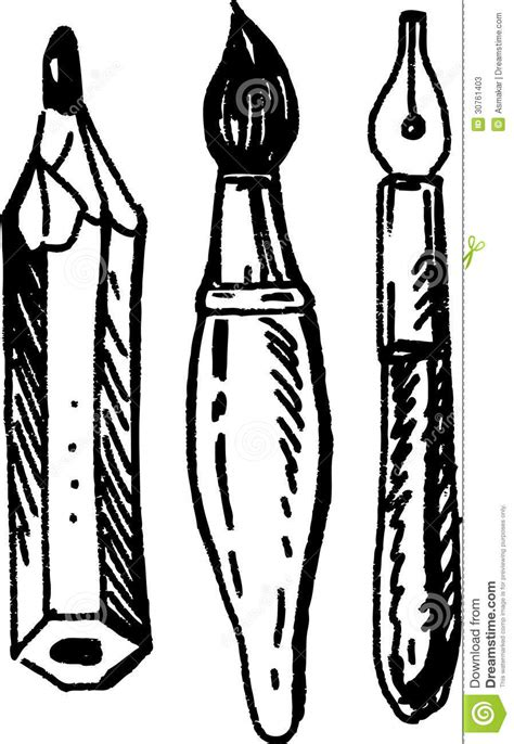 Drawing Utensils by Writing Utensils Stock Photos Image 30761403