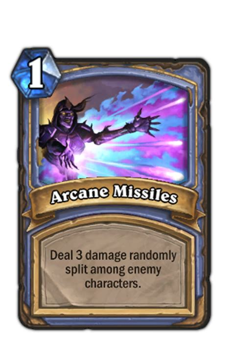 hearthstone card template arcane missiles hearthstone heroes of warcraft wiki