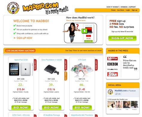 bid mad madbid bid madly and get more than 80 discount on your