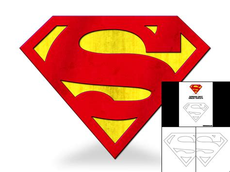 template for superman chest emblem the foam cave
