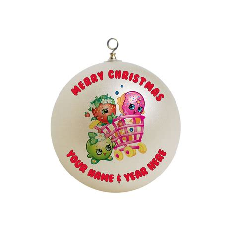 personalized christmas gifts personalized shopkins christmas ornament custom gift 2