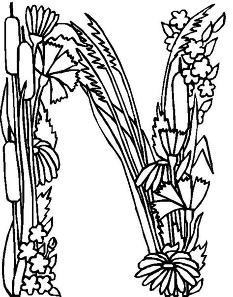 alphabet coloring pages with flowers free angry letter e coloring pages
