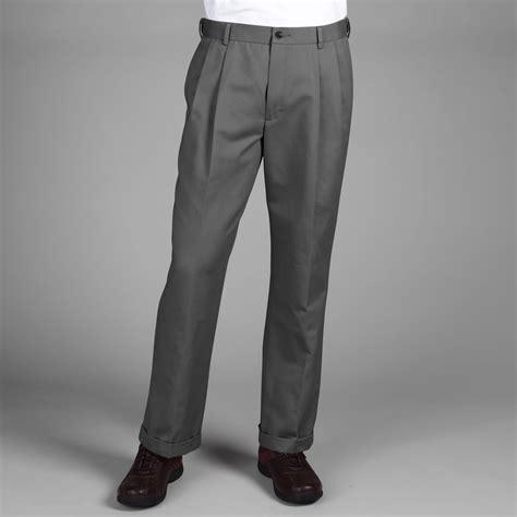 dockers d3 comfort waist pleated pants dockers men s comfort waist khaki d3 classic pleated