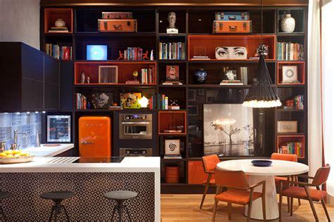 orange kitchen ideas interior design ideas kitchen design ideas with retro refrigerators that steal