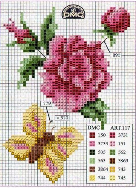 patrones para bordado en punto cruz de rosita fresita en patrones flores en punto de cruz punto en cruz