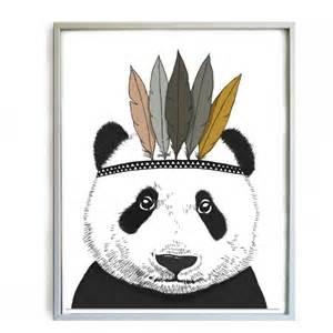 Minimel affiche panda d 233 coration chambre enfant