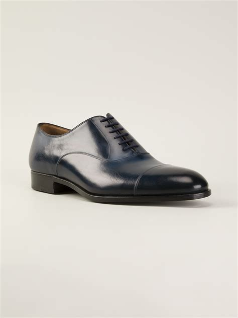 blue oxford shoes fratelli rossetti oxford shoes in blue for lyst