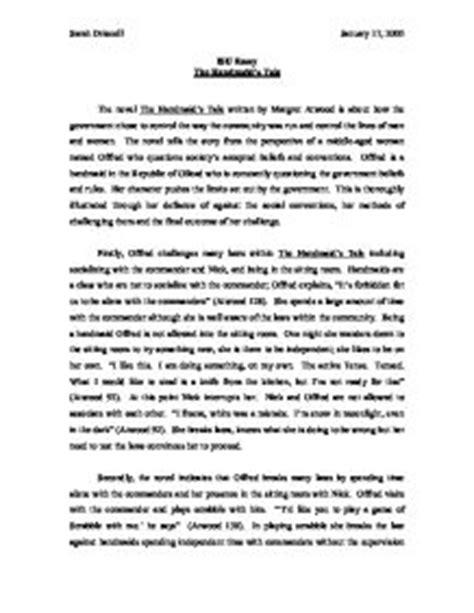 Handmaids Tale Essay by The Handmaid S Tale Summary Gcse Marked By Teachers
