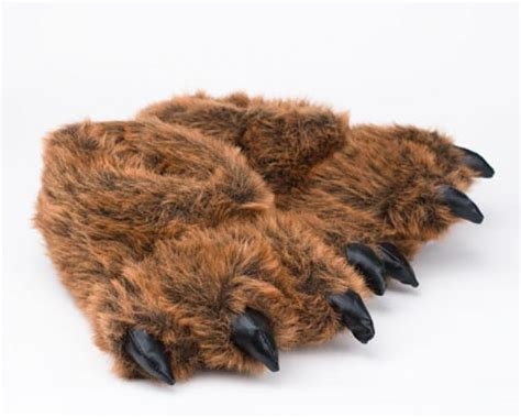 bear house shoes grizzly bear paw slippers grizzly bear slipper bear paw slippers