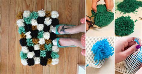como hacer una alfombra  pompones goplaceit