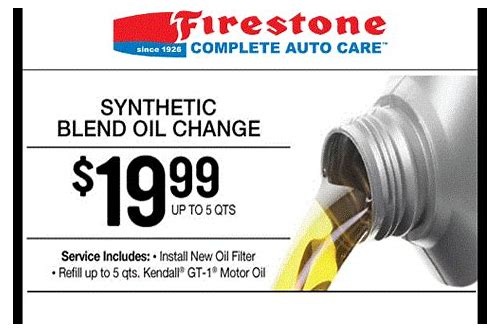 coupons oil change firestone