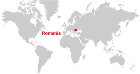 romania on the world map romania map and satellite image
