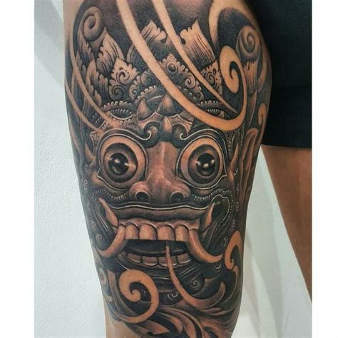 balinese tattoos symbols designs pictures tattlas balinese mask tattoo tattoos pinterest